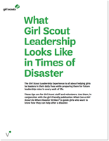 What Girl Scout Leadership Looks Like in Times of Disaster
