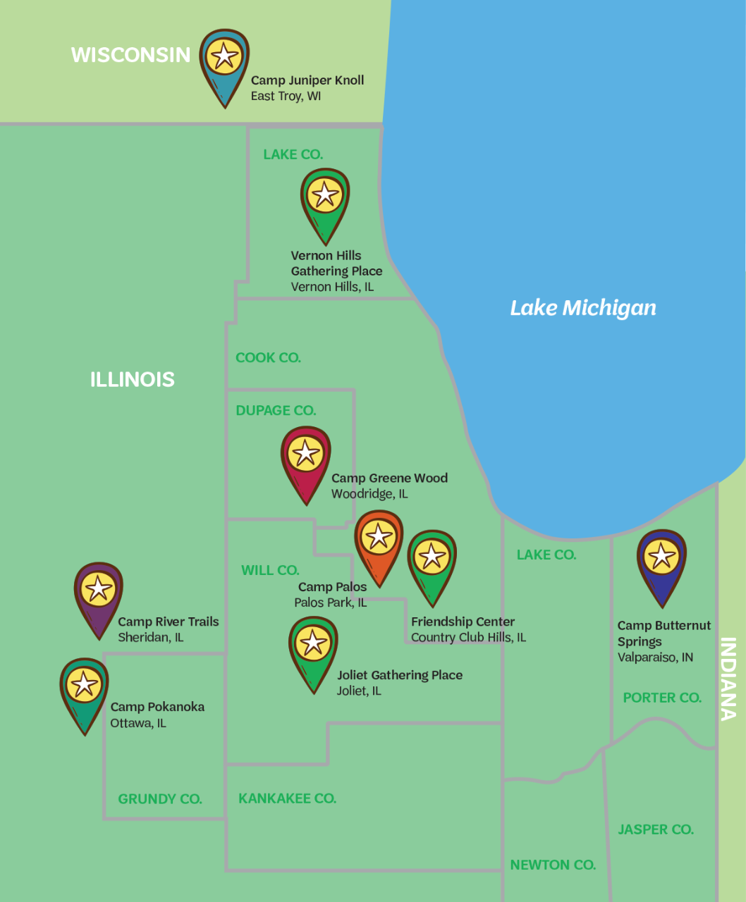 Map GCNWI Camp Locations