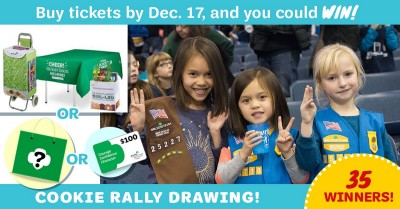 Buy Cookie Rally Tickets by Dec 17 and you could WIN!