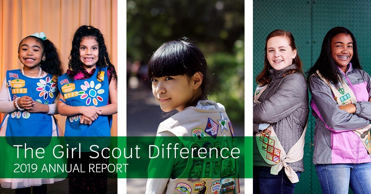 The Girl Scout Difference - 2019 Annual Report Banner