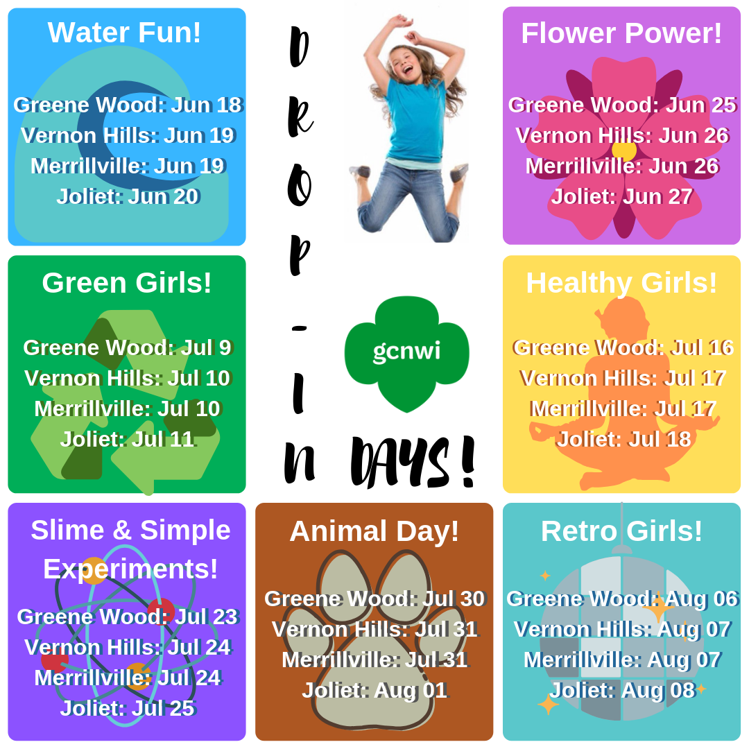 Drop In Days - Summer Programs 2019